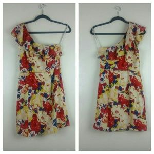 Frock by Tracy Reese one shoulder floral dress